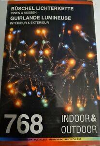 Cluster Lights Büschel Lichterkette 768 Lichter Bunt Weihnachten indoor/ Outdoor