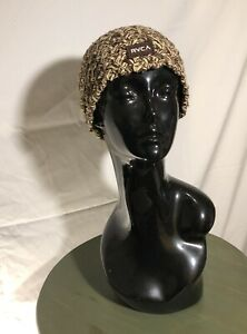 RVCA Weave Knit Burner Beanie New With Tag RUCA Brown/Tan Blend Color