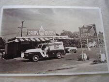 1955 FORD ICE CREAM TRUCK AT DAIRY QUEEN   11 X 17  PHOTO  PICTURE