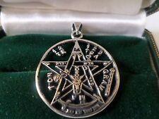 925 argento Sterling Charm Pentacolo Ciondolo, Baphomet WICCA PAGANO, strega, NUOVO LGE