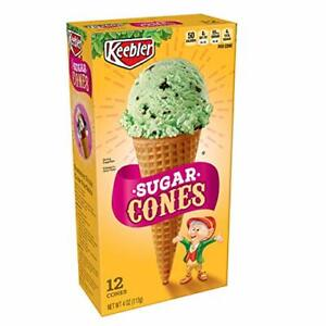 Keebler Ice Cream Cones, Sugar Cones, 4 oz (12 Count)