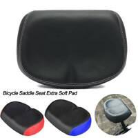 NEW Bicycle Saddle Seat Extra Soft Pad Wide Big Bum MTB Mountain Bike Noseless