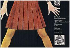 PUBLICITE ADVERTISING 104 1966 PURE LAINE VIERGE Pull pour Femme (2 pages)