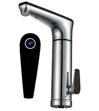 Electric Heated Instant Hot Water Tap-LCD Display Electric Sink Mixer Hand Wash