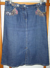 Oilily Jean Skirt Women's Size 44 Embroidered