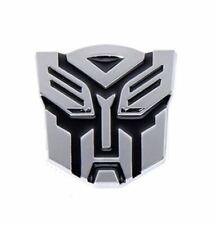 3D Transformer Sticker Logo Chrome Decal Badge Autobots Metal Car x 1 Autobots