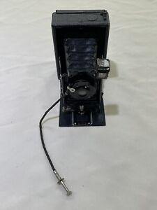 Ernemann Dresden Folding Camera w/ Detectiv Aplanat 1:6.8 No. 00