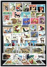 Set of 50 different stamps Animals, Birds, Fish, Tiere, Oiseaux, Butterflies S11