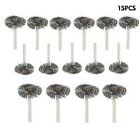 """15 Pcs 1/8"""" Shank. 1"""" INCH Stainless Steel Wire Brush For Rotary Tool"""