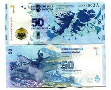 ARGENTINA 50 PESOS ND(2015) P-362 UNC COMMEMORATIVE MALVINAS