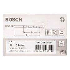 BOSCH metallo Drill Bit HSS-R. DIN 338 5,5 x 57 x 93 mm 2607018424