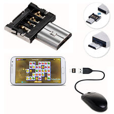 2X Micro USB Male to USB Female OTG Adapter Converter for Android Phone Tablet