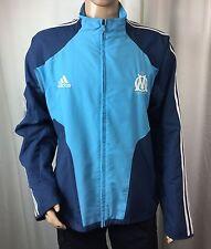 ADIDAS Olympique de Marsella/Marseille soccer/track firebird jacket . men's XL