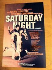 SATURDAY NIGHT Window Card STEPHEN SONDHEIM David Campbell Lauren Ward MINT
