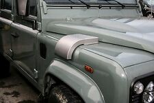 Land Rover Defender - STAINLESS STEEL Snow Cowl Intake Cover LHD (SILVER)