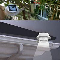 Black Solar Power 3LED Light Fence Wall Lamp Tree Outdoor Garden Xmas Yard Decor