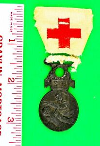 Original French Red Cross Medal 1864-1866 Wounded Napoleon III Empire