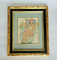 DUANE BRYER Signed Vintage Original Watercolor Painting of HILDA Character