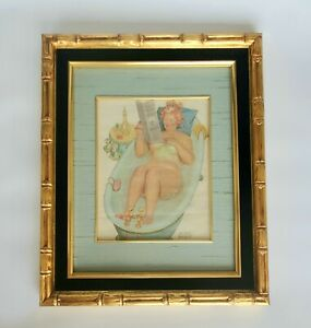 Vintage DUANE BRYER Original Watercolor Painting of HILDA Character