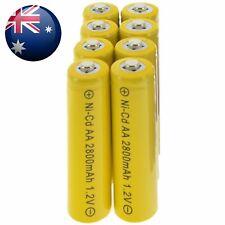 8x AA battery batteries Bulk Nickel Cadmium Rechargeable NI-cd 2800mAh 1.2V Yel