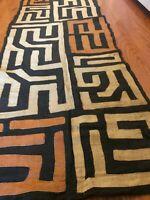 genuine 10 feet African (Congo) Kuba Raffia cloth fabric, natural woven handmade