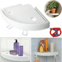 Bathroom Triangular Shower Shelf Corner Bath Storage Holder Organizer Rack White