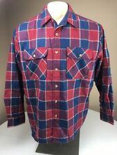 EUC Vintage Fieldmaster Blue Red Quilted Plaid Tartan Flannel Jacket XL