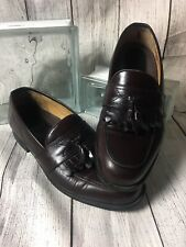 Rockport Mens 10 M Loafers Tassle Slip on Shoes Brown Leather Made In Italy