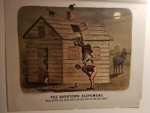 """Currier & Ives """"THE DARKTOWN ELOPEMENT"""" (SKIP)"""