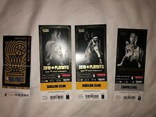 2019 NBA FINALS TORONTO RAPTORS GAME 1 3 4 6 TICKET SET- ALL RAPTORS WINS!! Rare