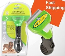 FURminator Long Hair deShedding Tool Small Dog Medium Stainless + Nail Clipper