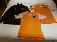 MLS Houston Dynamo Black Track Zip Jacket Home Soccer Adidas Climacool Jerseys