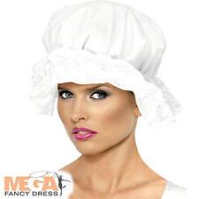Victorian maid blanc mop chapeau costume robe fantaisie femme historique accessoire