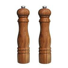 OLIVE WOOD SALT AND PEPPER MILLS / MILL /GRINDER - PAIR OF (OL254)