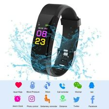 1X(HOT 115PLUS Smart Band Support Heart Rate Blood Pressure Calorie Step MoY4X5)