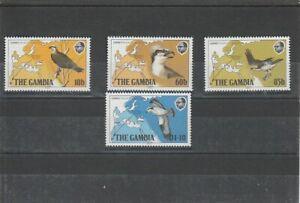 GAMBIA 1983 BIRDS  SET MNH VF