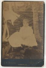 JW Easterline, Cute Girl in DUNMORE PA Lackawanna County Cabinet Card Photograph