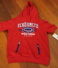 Echo Unlimited Shortsleeve hoodie red sz s youngteen boy MSRP: $40 Now: $18.99