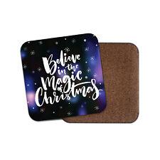 Believe In The Magic Coaster - Christmas Xmas Festive Snowflakes Fun Gift #19091
