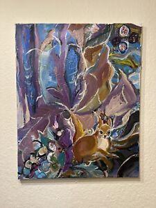 Ölbild Abstakt Mit Den Kleinen Süßen Bambi