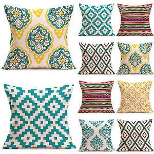 """Sofa Home Decor Pillowcase Geometric Cushion Cover Waist Throw Pillow Slip 17.7"""""""