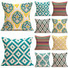 Geometric Pillow Case Multi-Coloured Cotton Linen Cushion Cover Sofa Home Decors