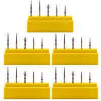 5pcs Interproximal Enamel Grinding Polishing Diamond Burs Tooth Drill For Dental