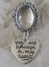Vintage Style Photo Frame Wedding Charm/Button Hole/Fastening/Pin/Brooch