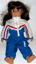 American Girl Doll  Brown Hair Brown Eyes USA  2004 Gymnastics Outfit  (3 piece)
