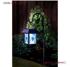 New Solar Hanging Stained Glass Lantern - Butterfly