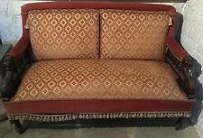 altes 2 Sitzer Sofa in sehr gutem Zustand mit Löwenfüßen Polster TOP Bezug TOP