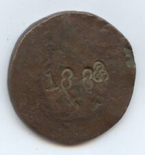 Exonumia Counter Stamped Coin (#8795) 1888 on One Side Other Side 5 Crosses