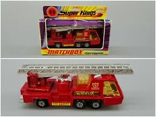 Matchbox Super Kings K-9 Fire Tender 1970s Vintage Diecast Toy Fire Truck & Box