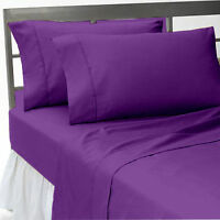 Luxurious PURPLE SOLID  EGYPTIAN COTTON UK BED SHEET SET/DUVET SET/FITTED/PILLOW